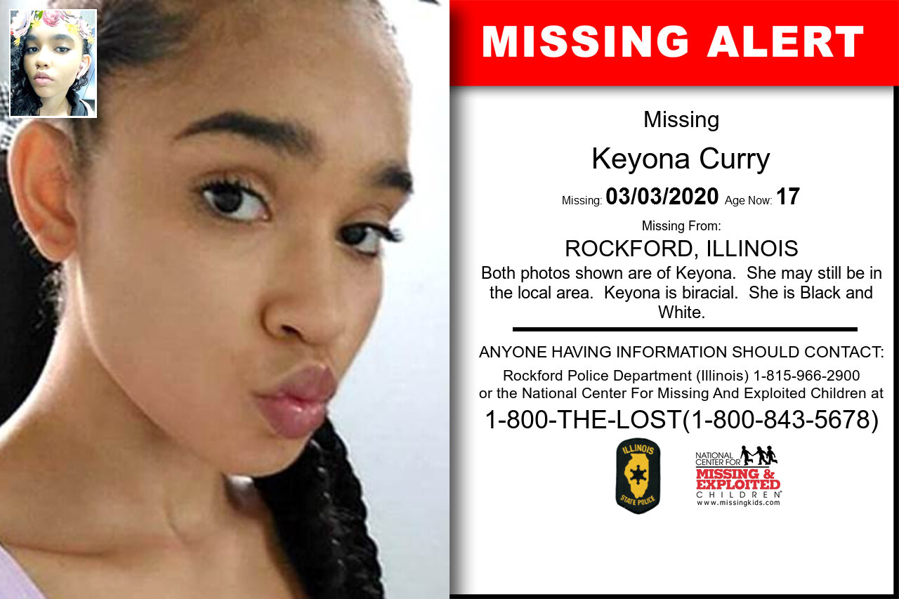 Keyona_Curry missing in Illinois