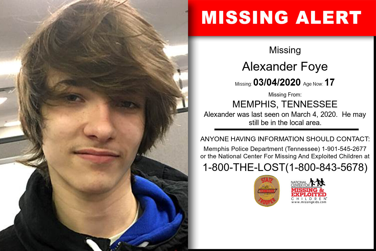 Alexander_Foye missing in Tennessee