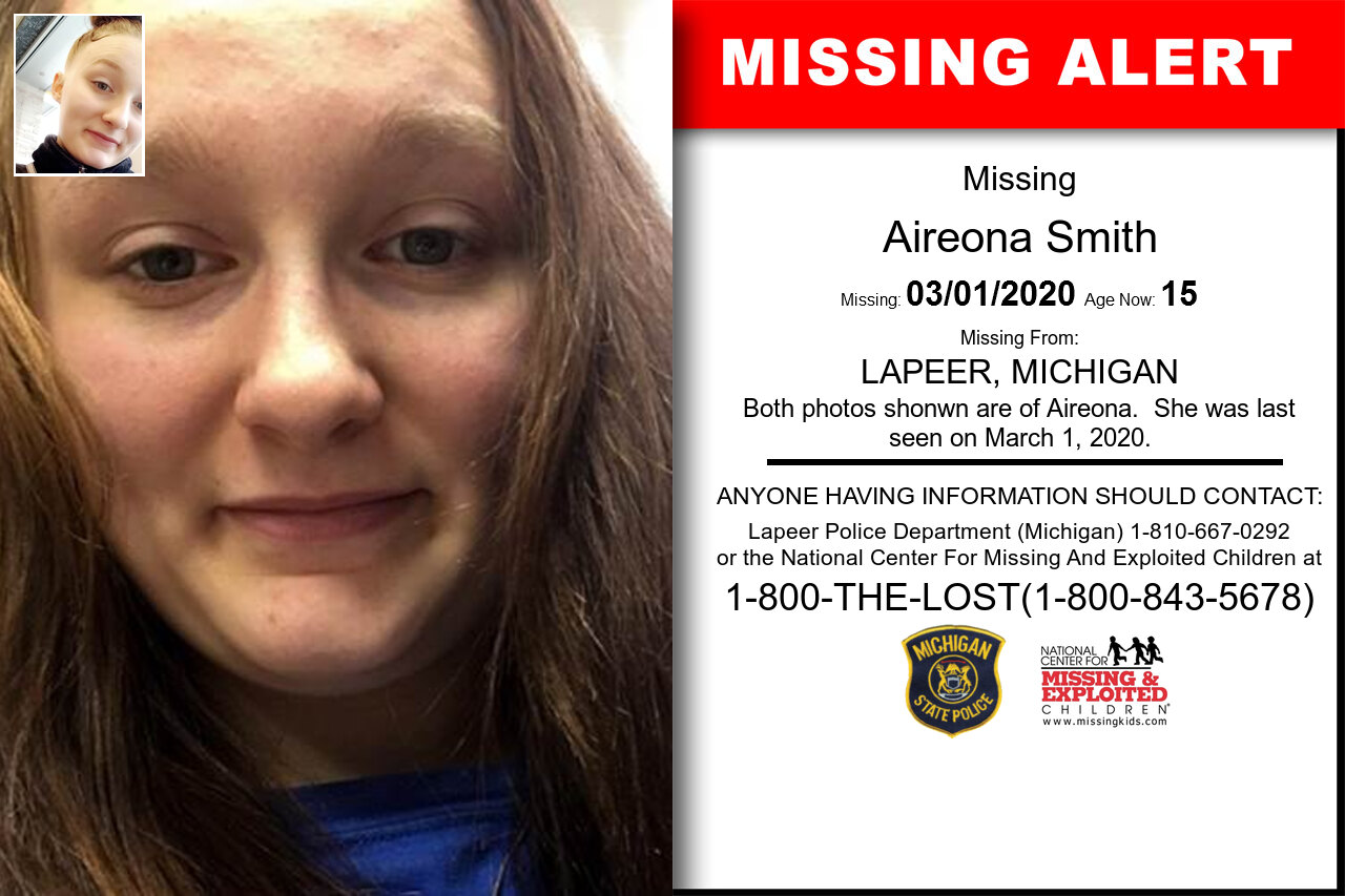 Aireona_Smith missing in Michigan