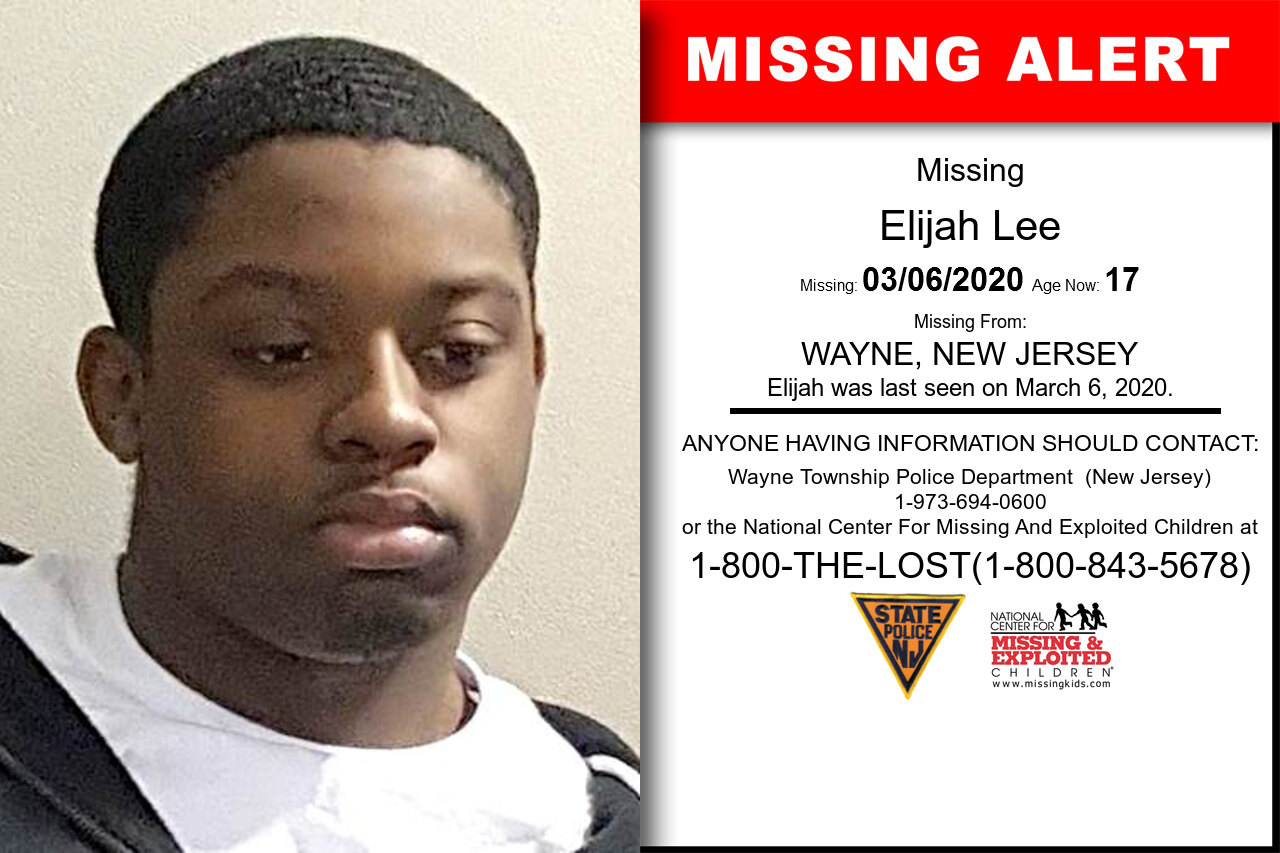 Elijah_Lee missing in New_Jersey