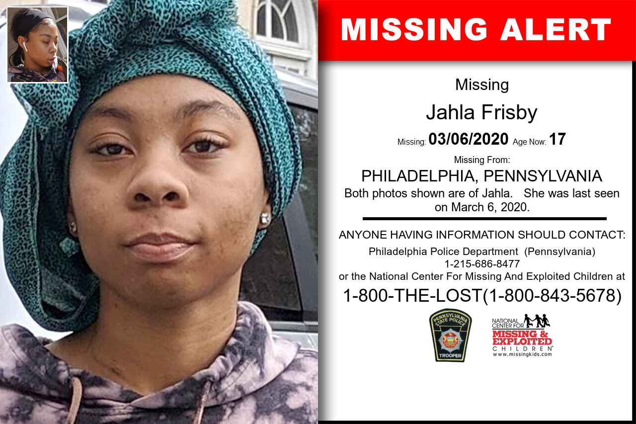 Jahla_Frisby missing in Pennsylvania