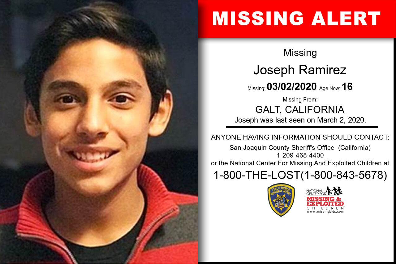 Joseph_Ramirez missing in California