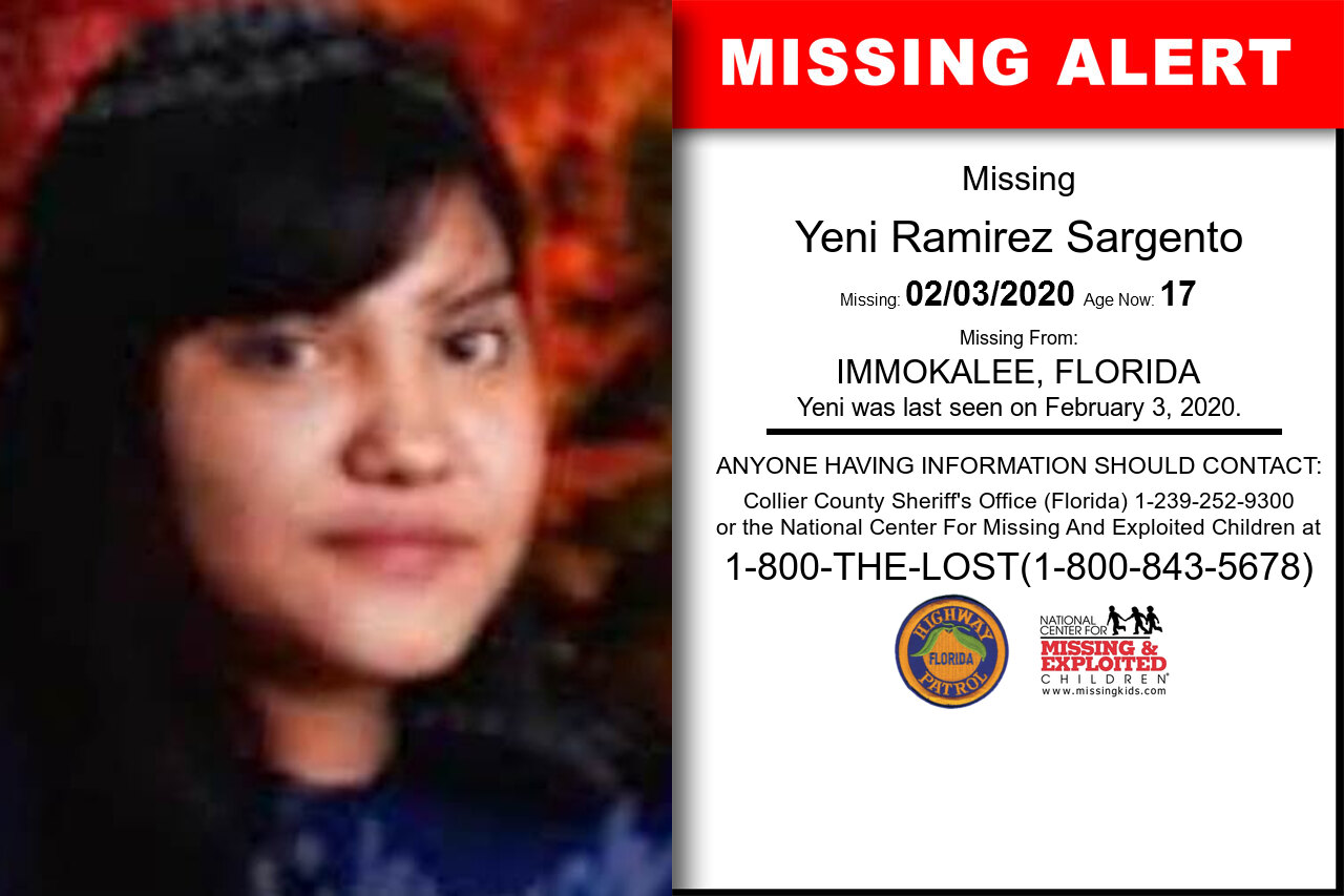Yeni_Ramirez_Sargento missing in Florida