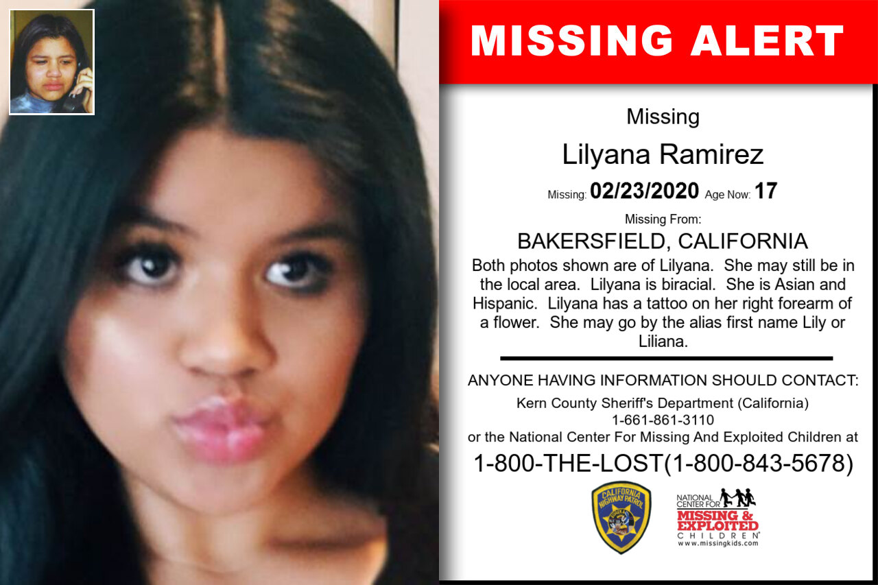 Lilyana_Ramirez missing in California