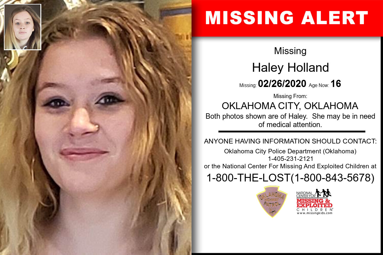 Haley_Holland missing in Oklahoma