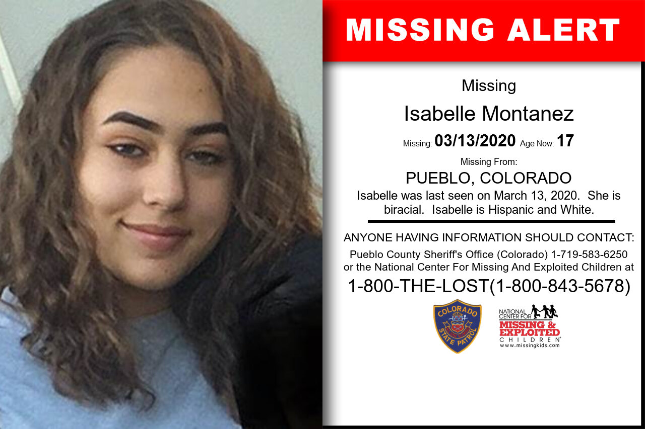 Isabelle_Montanez missing in Colorado