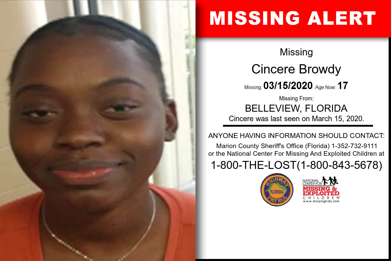 Cincere_Browdy missing in Florida