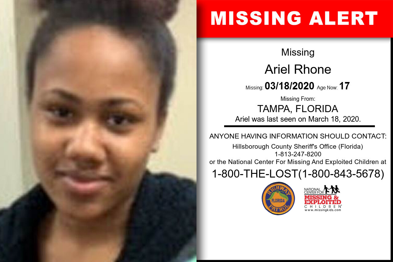 Ariel_Rhone missing in Florida