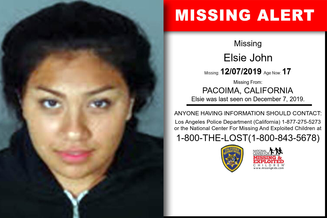 Elsie_John missing in California