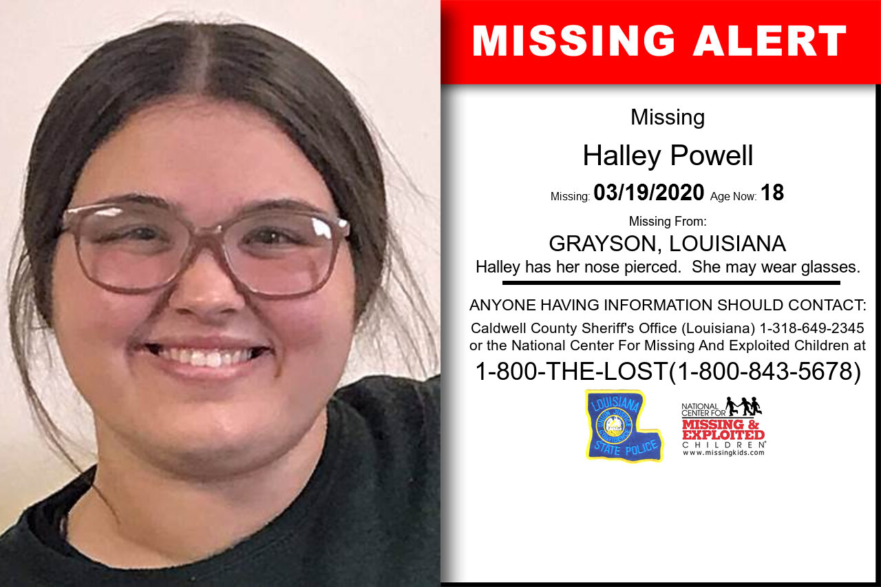 Halley_Powell missing in Louisiana