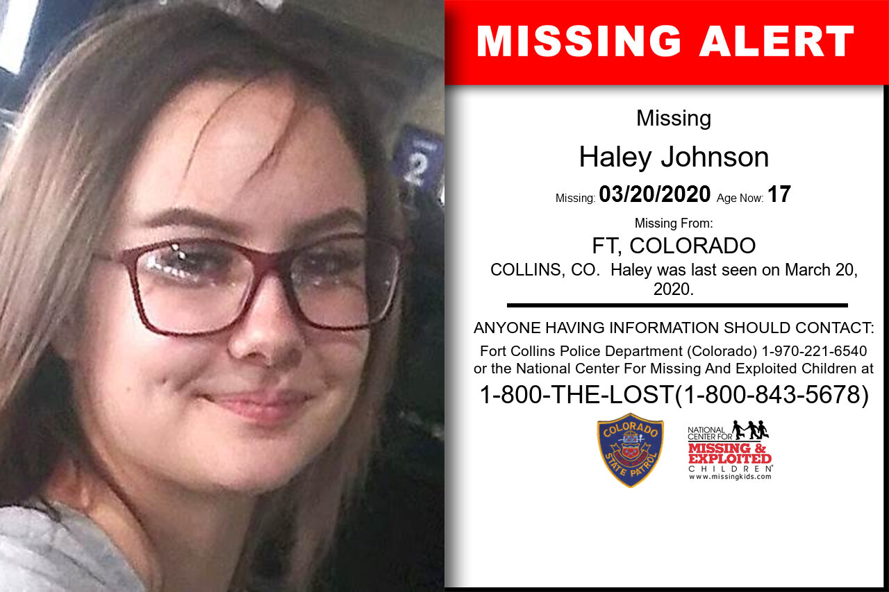 Haley_Johnson missing in Colorado