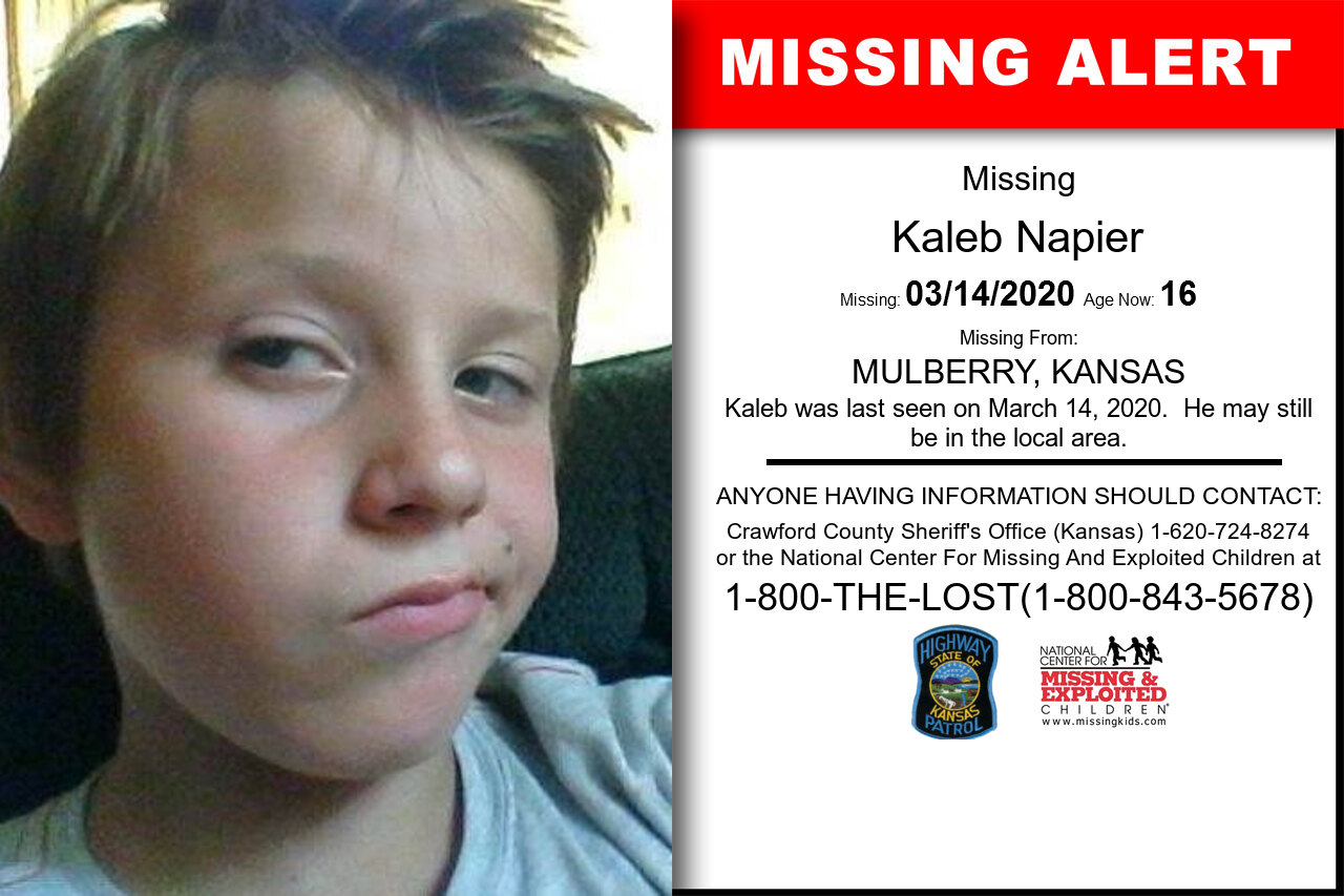 Kaleb_Napier missing in Kansas