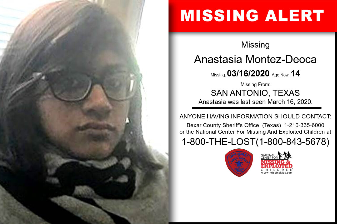 Anastasia_Montez-Deoca missing in Texas