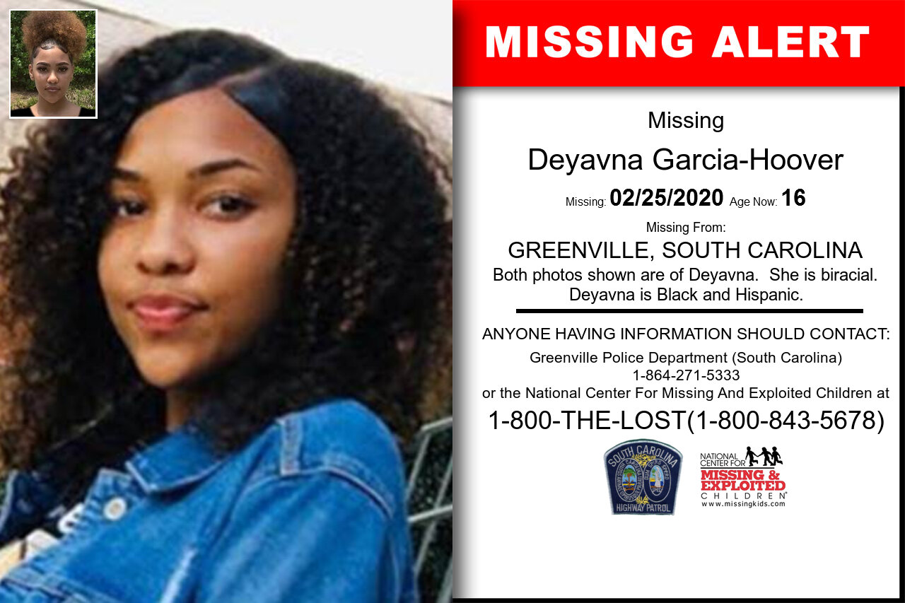 Deyavna_Garcia-Hoover missing in South_Carolina