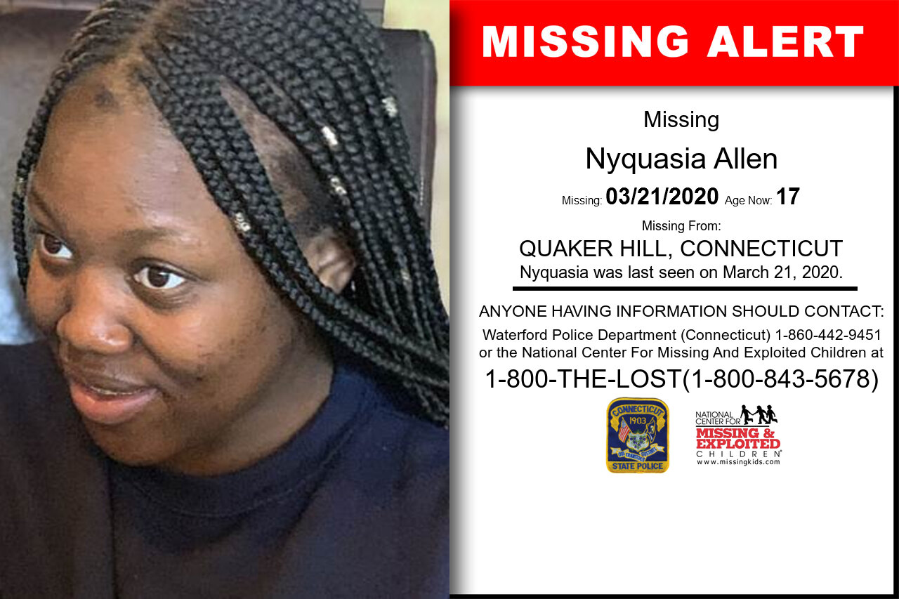 Nyquasia_Allen missing in Connecticut