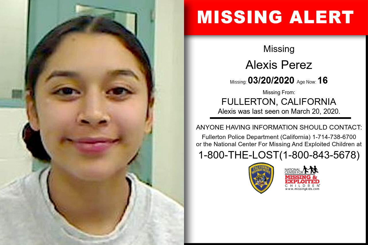 ALEXIS_PEREZ missing in California