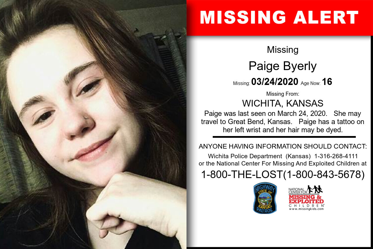 Paige_Byerly missing in Kansas