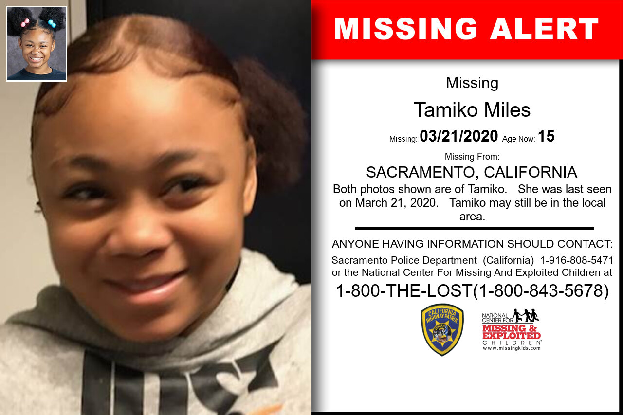 Tamiko_Miles missing in California