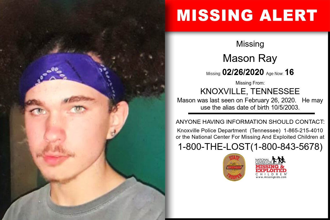 Mason_Ray missing in Tennessee