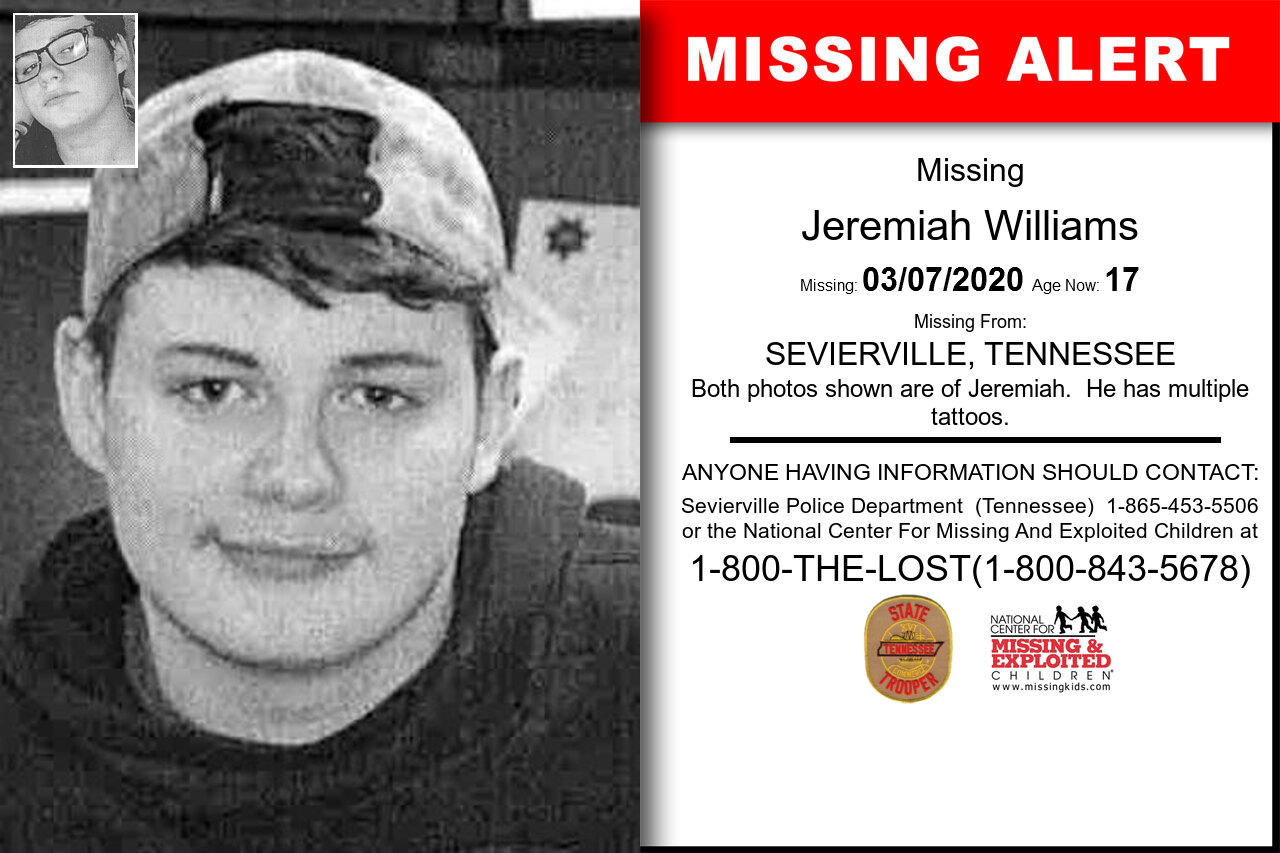 Jeremiah_Williams missing in Tennessee