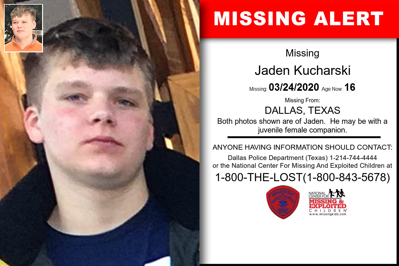 Jaden_Kucharski missing in Texas