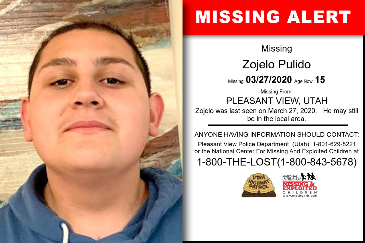 Zojelo_Pulido missing in Utah