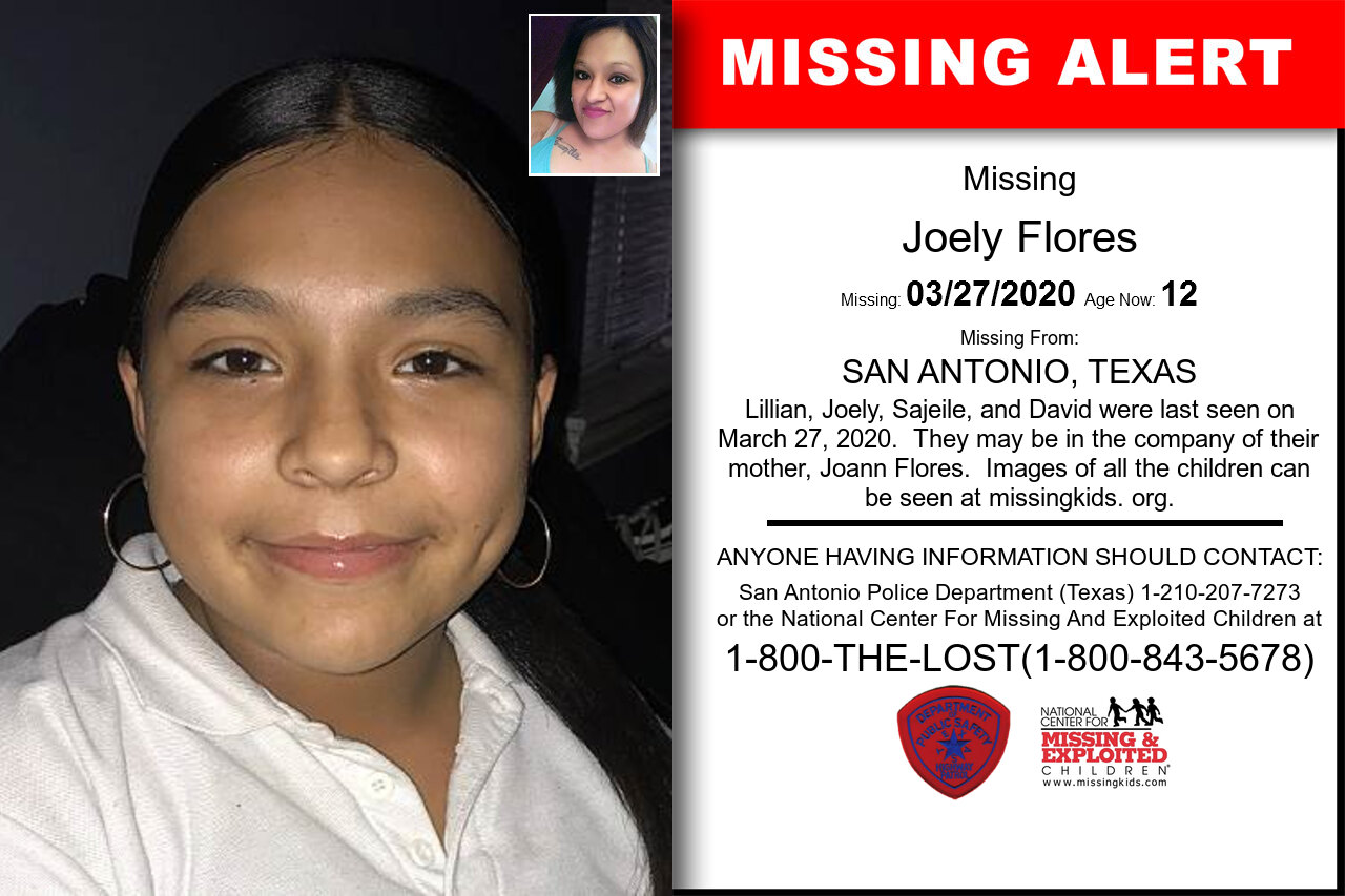 Joely_Flores missing in Texas