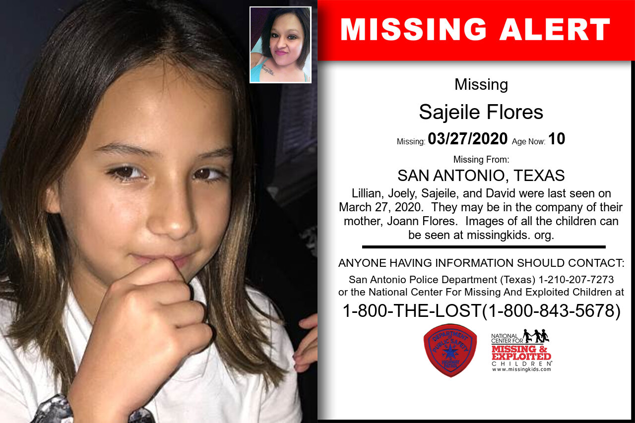 Sajeile_Flores missing in Texas