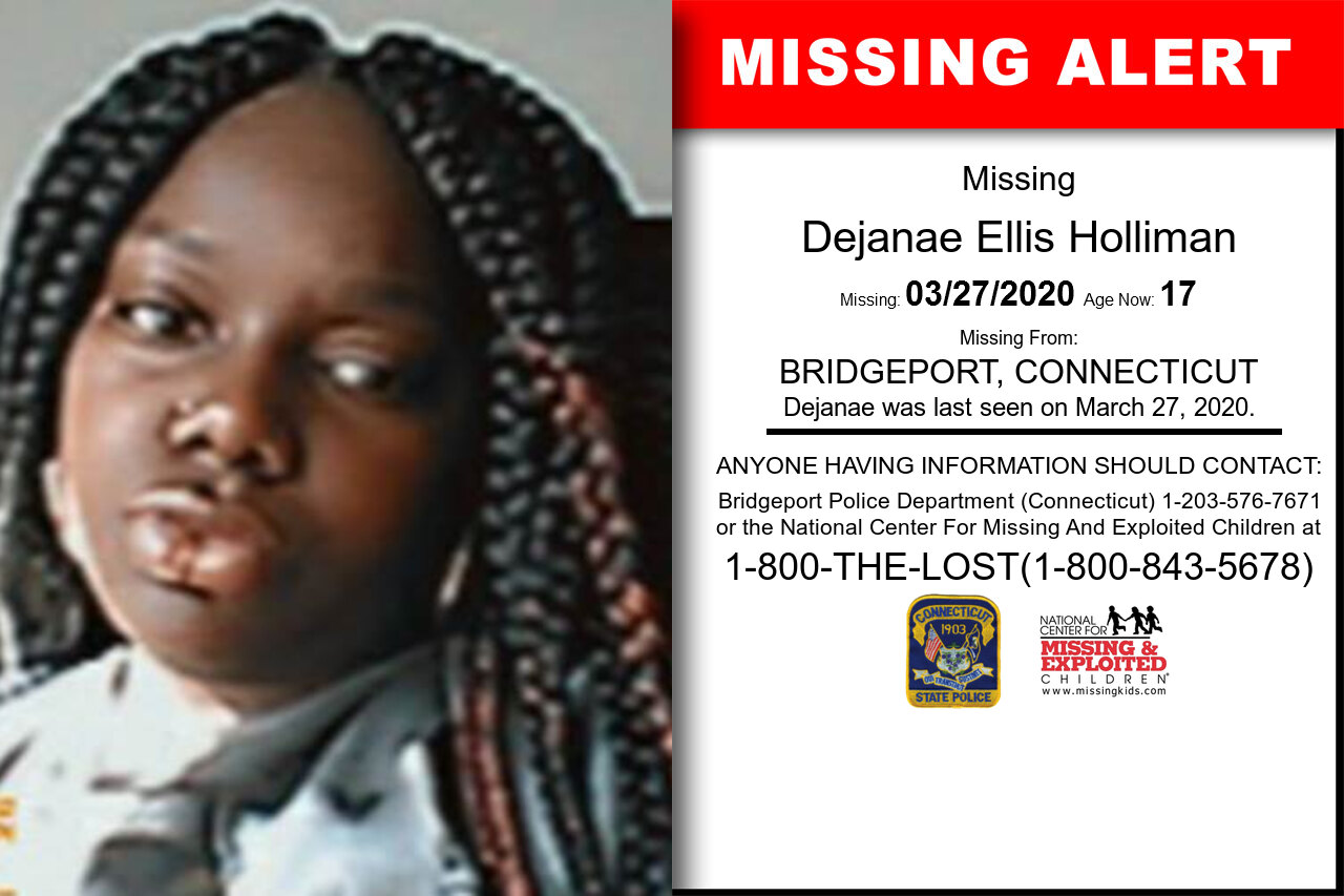 Dejanae_Ellis_Holliman missing in Connecticut