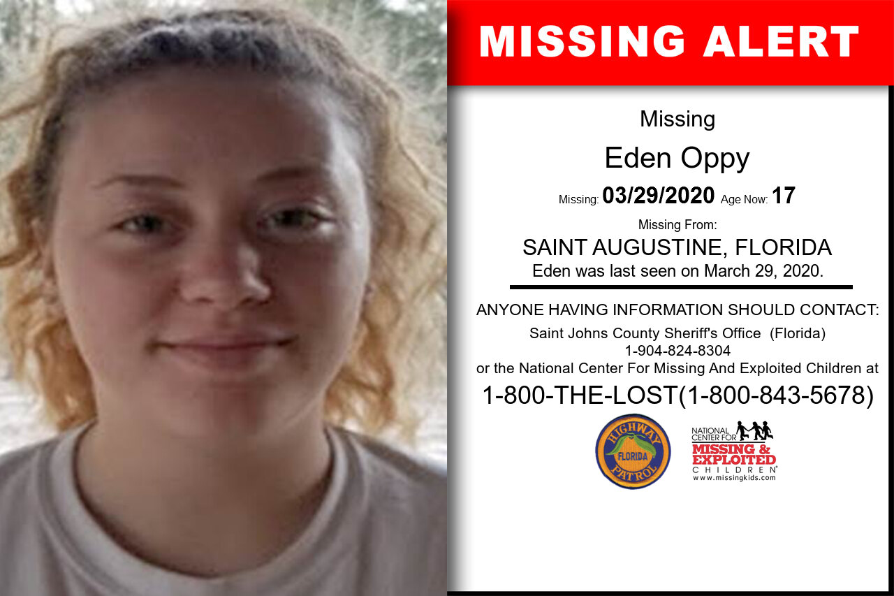 Eden_Oppy missing in Florida