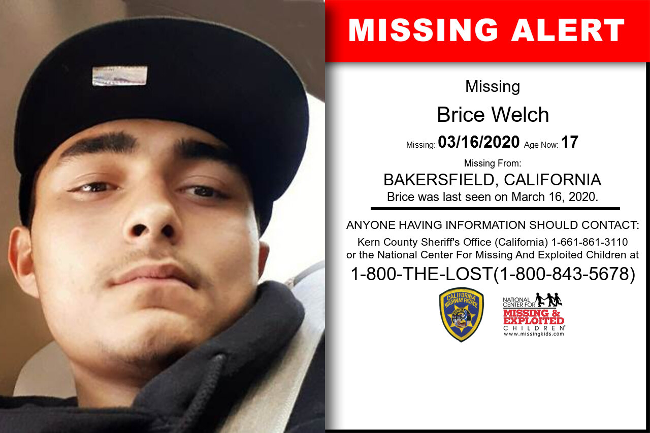 Brice_Welch missing in California
