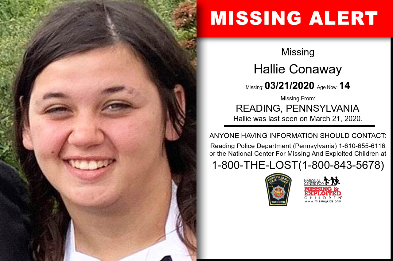 Hallie_Conaway missing in Pennsylvania