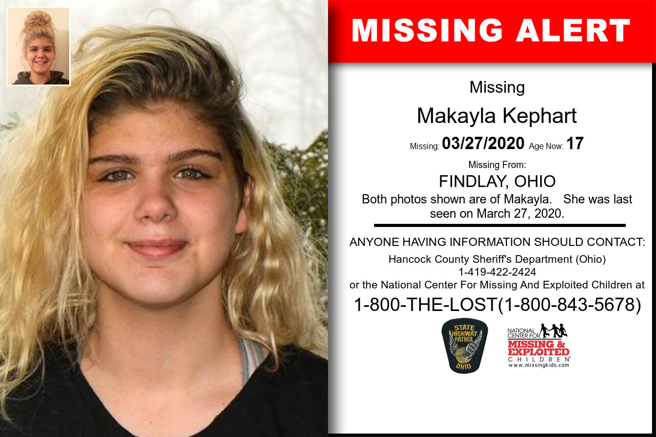 Makayla_Kephart missing in Ohio