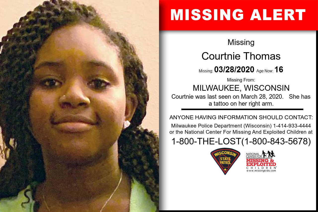 Courtnie_Thomas missing in Wisconsin