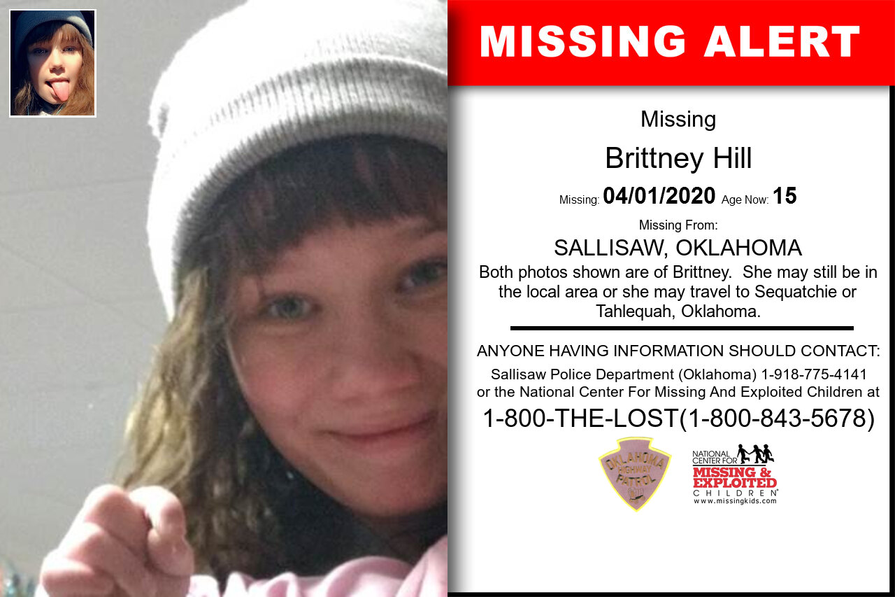 Brittney_Hill missing in Oklahoma