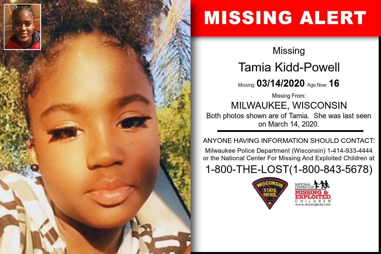Tamia_Kidd-Powell missing in Wisconsin