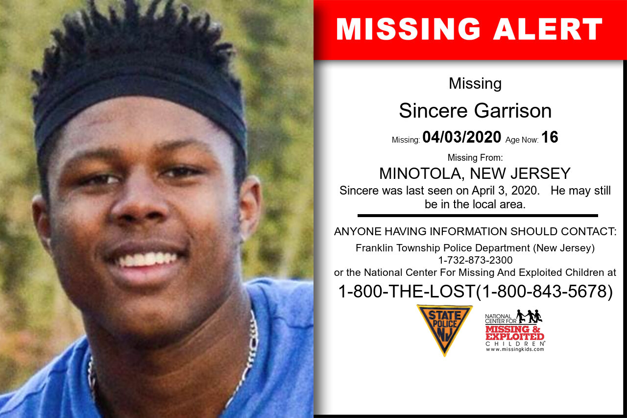 Sincere_Garrison missing in New_Jersey