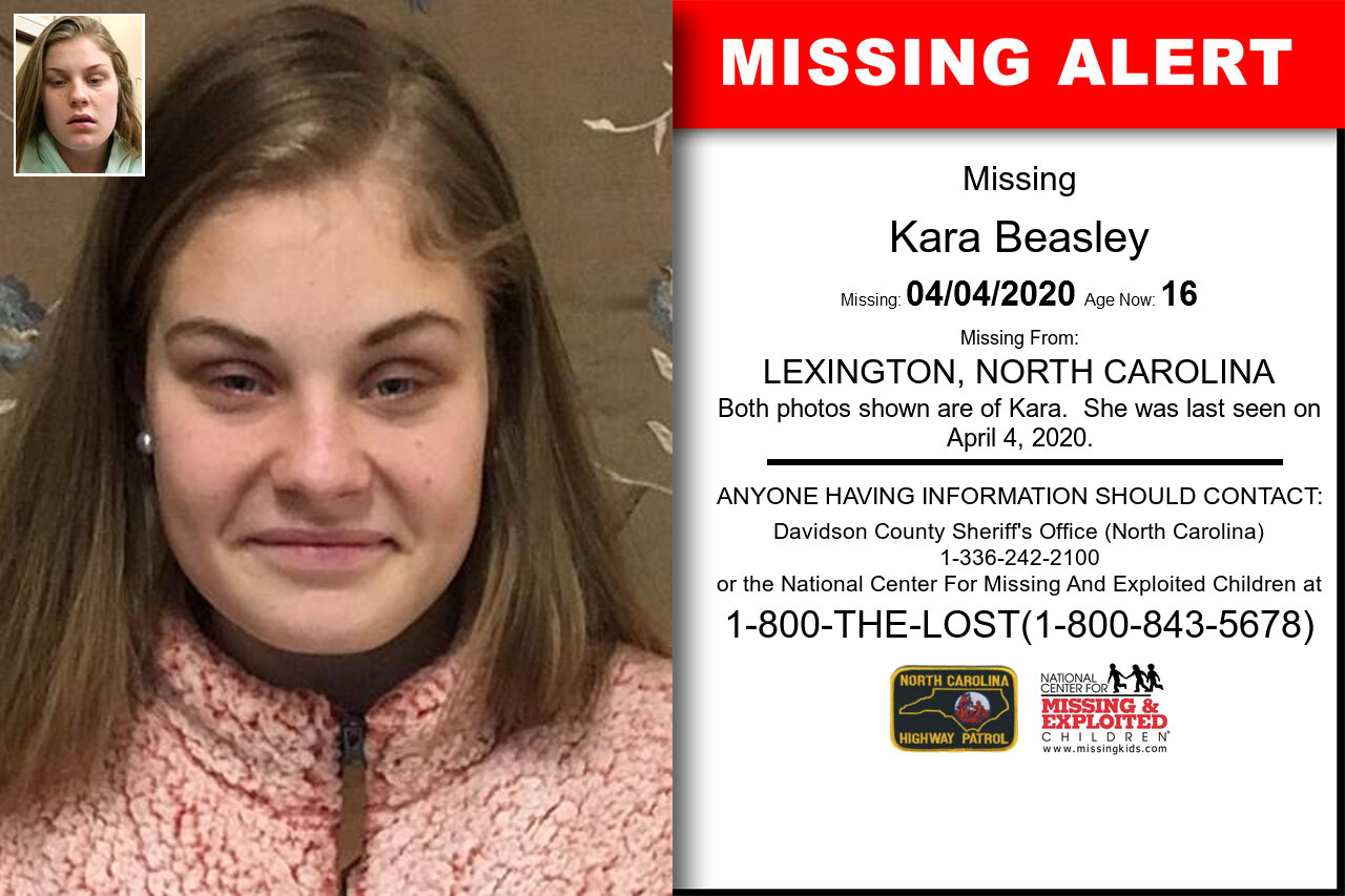 Kara_Beasley missing in North_Carolina