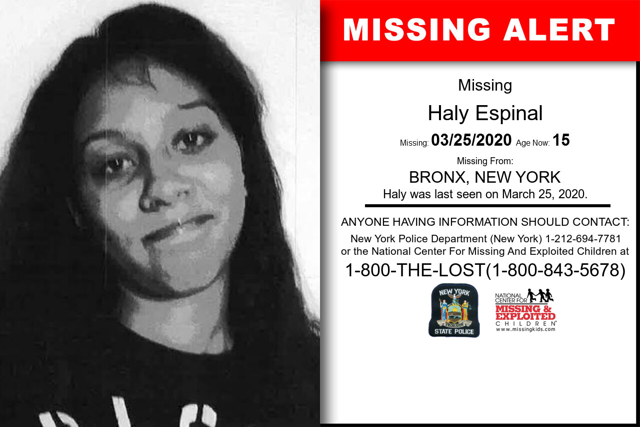 Haly_Espinal missing in New_York