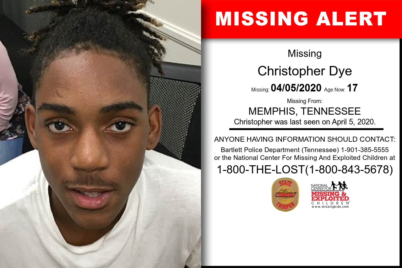 Christopher_Dye missing in Tennessee