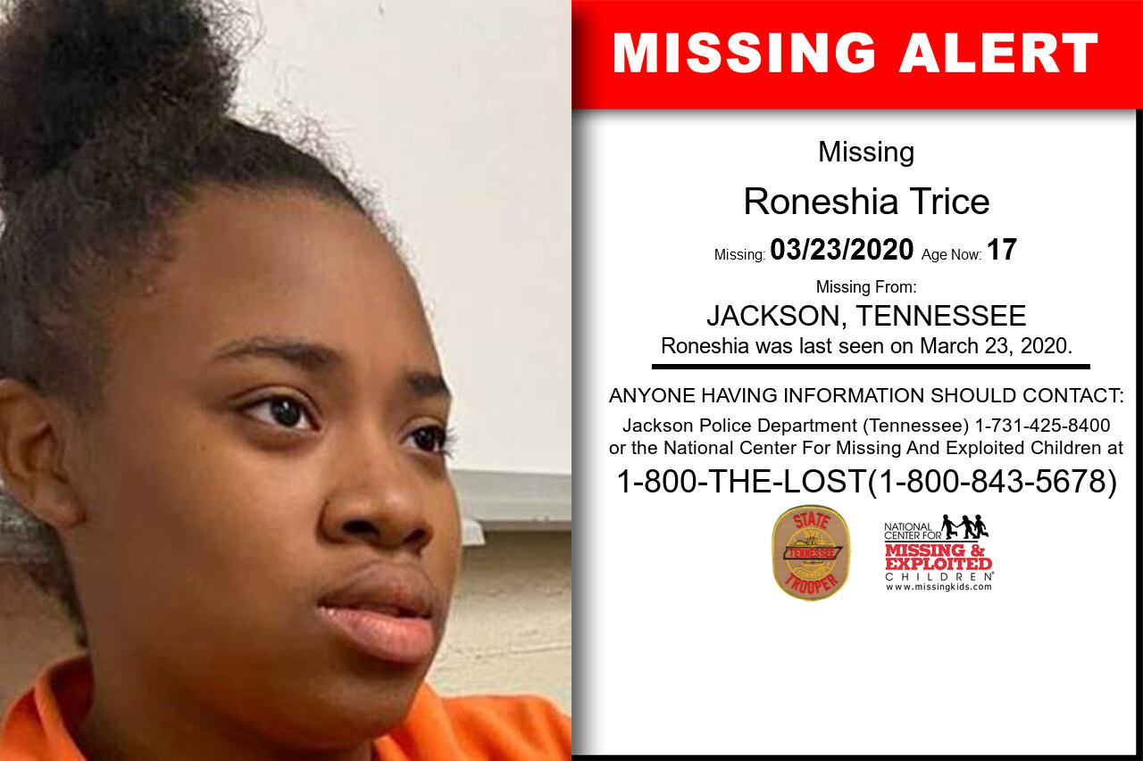 Roneshia_Trice missing in Tennessee