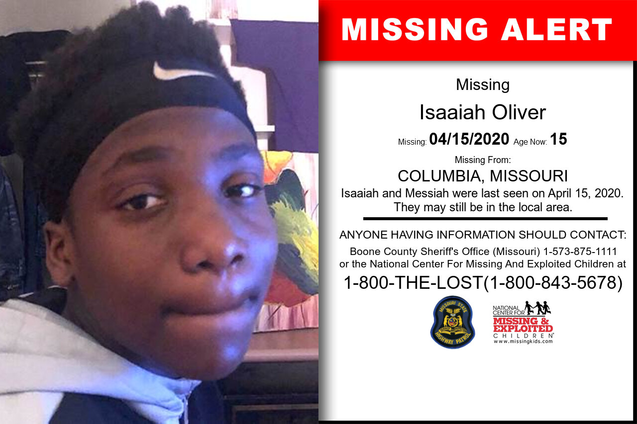 Isaaiah_Oliver missing in Missouri