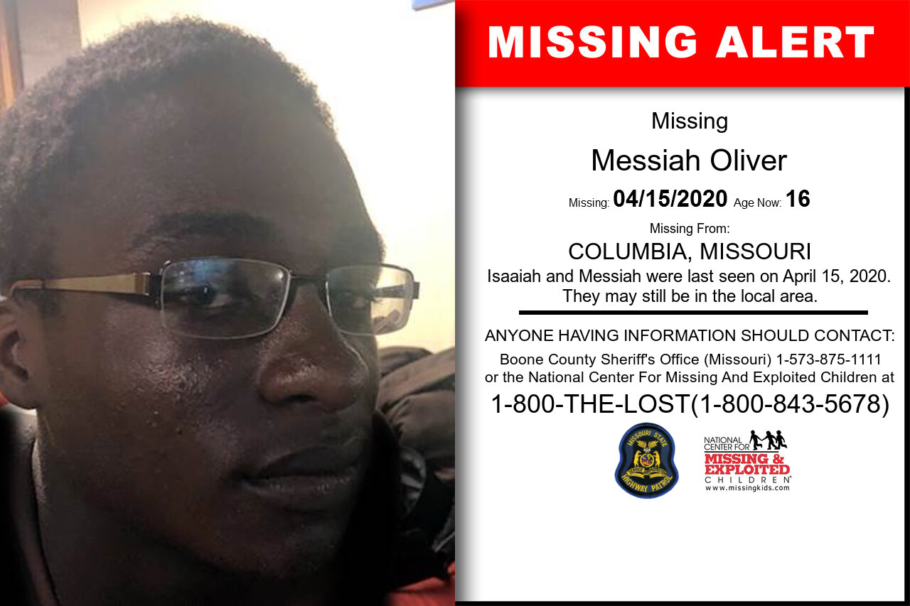 Messiah_Oliver missing in Missouri