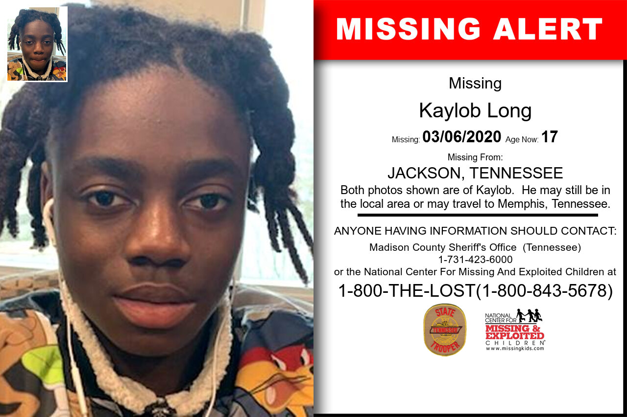 Kaylob_Long missing in Tennessee