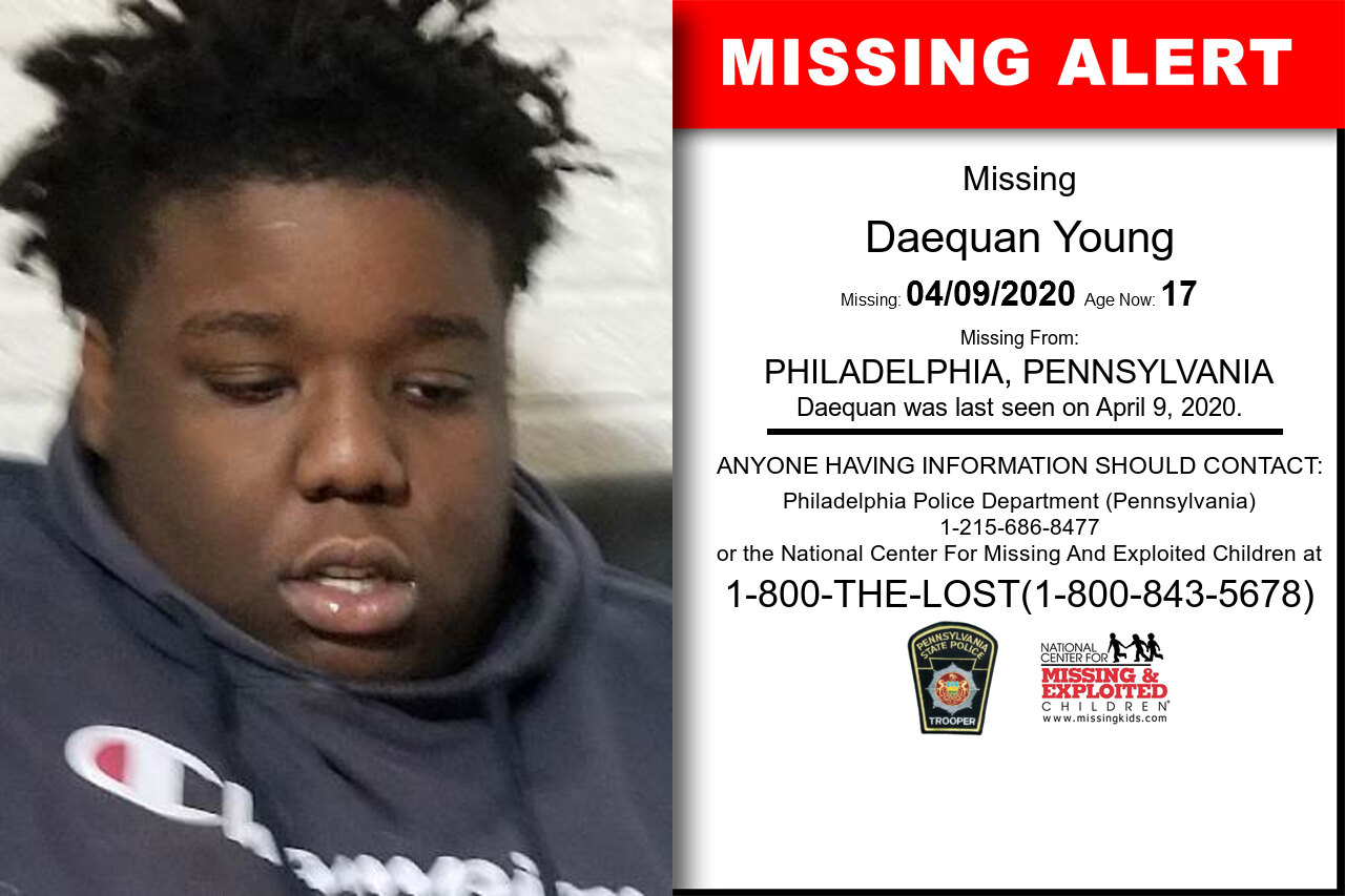 Daequan_Young missing in Pennsylvania