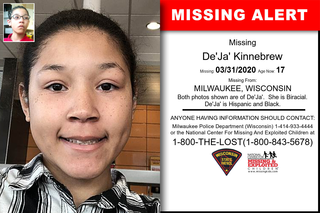 De'Ja'_Kinnebrew missing in Wisconsin