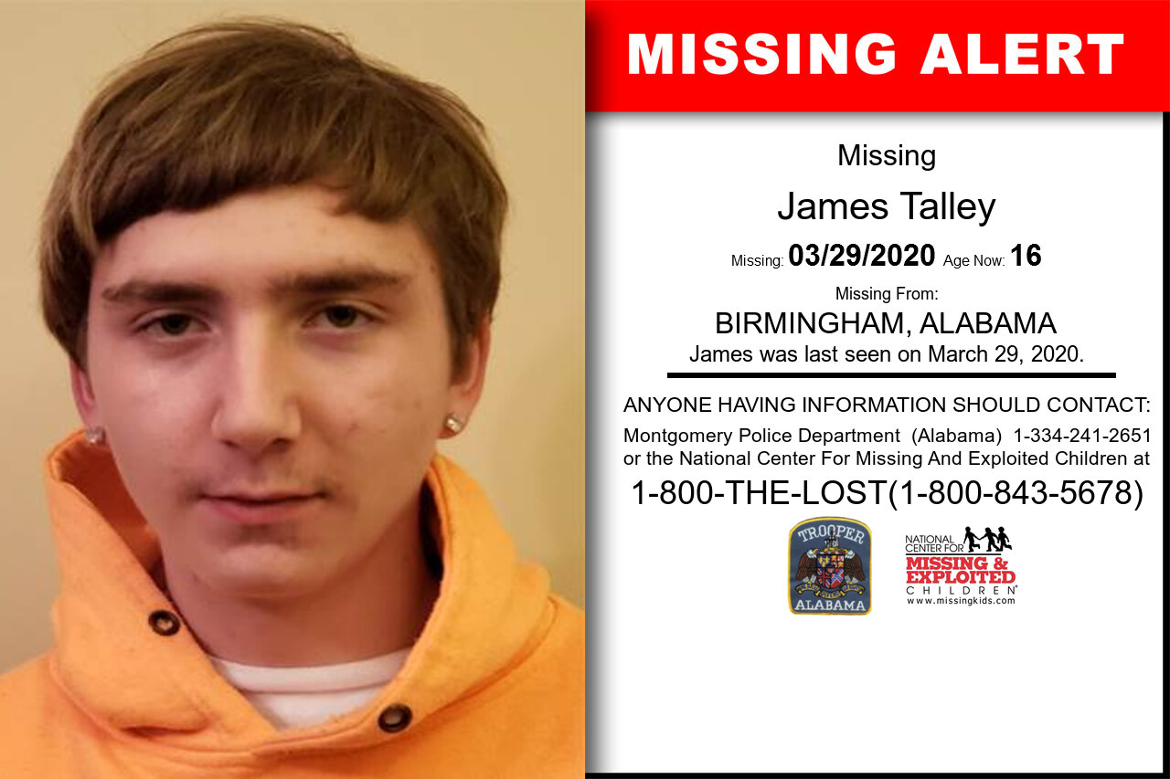 James_Talley missing in Alabama