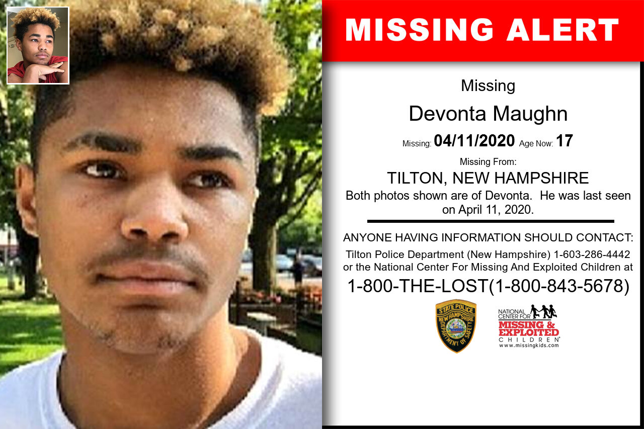 Devonta_Maughn missing in New_Hampshire