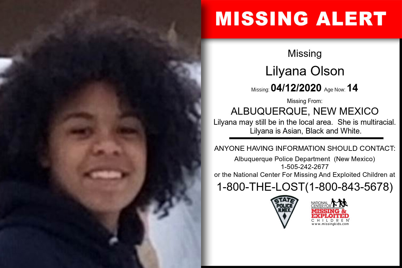 Lilyana_Olson missing in New_Mexico
