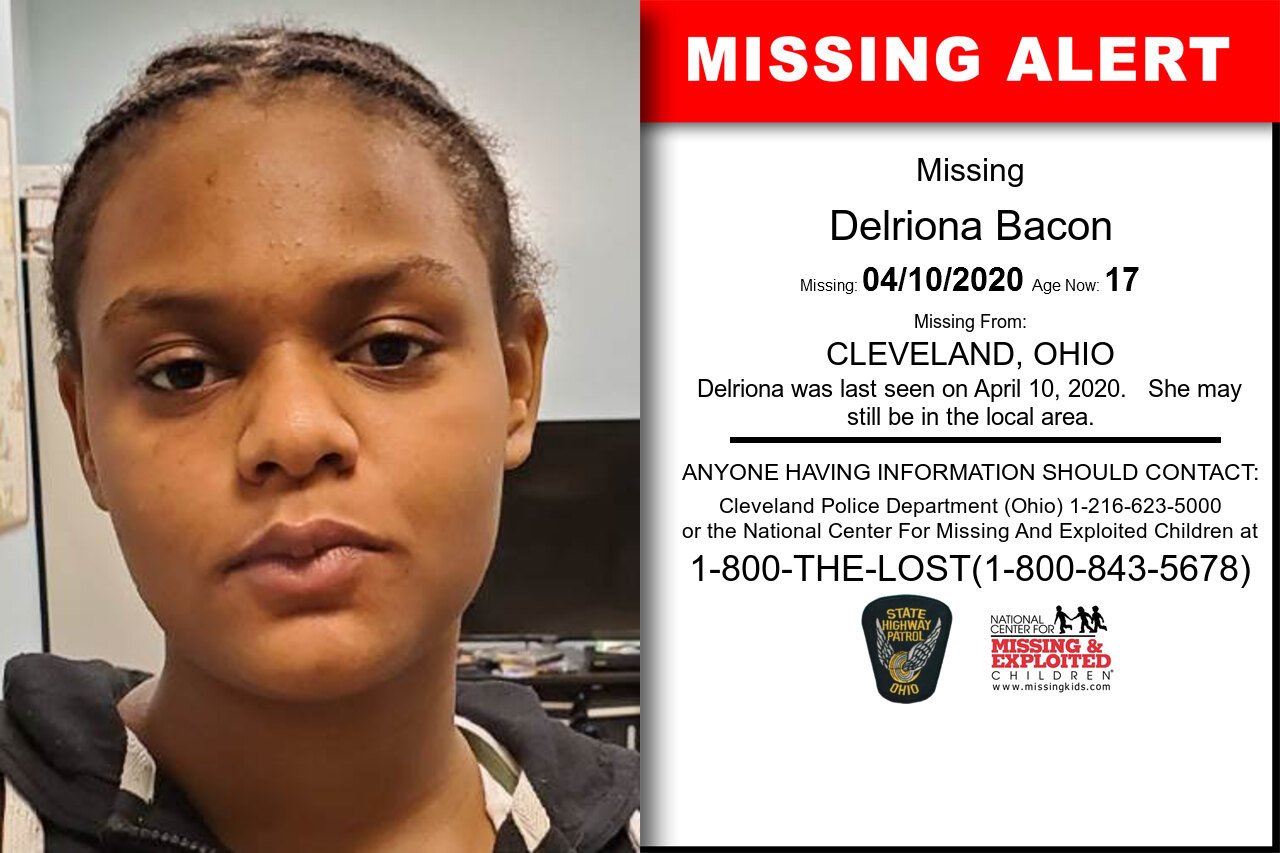 Delriona_Bacon missing in Ohio